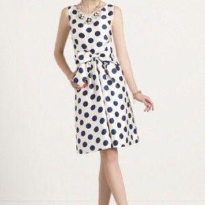 Kate Spade Dress - Navy Blue & polka dot